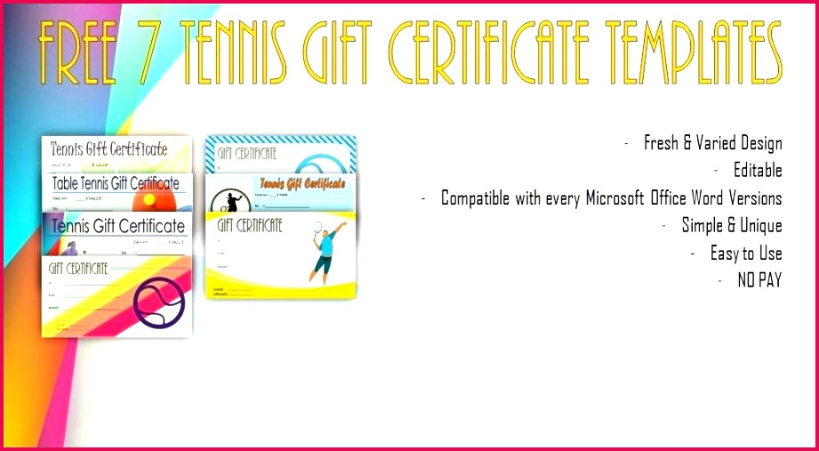 tennis t certificate templates free sample award fresh template awesome