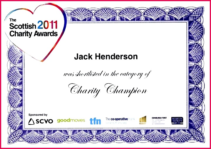 jack at the charity awards sponsored walk template certificate