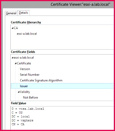 And the SSL thumbprint fingerprint SHA256 has a specific value ending in 1C 0D E8