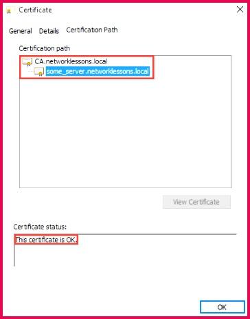 openssl server certification path