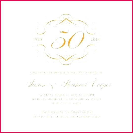 50th wedding invitations anniversary certificate template templates for golden invitation card sample