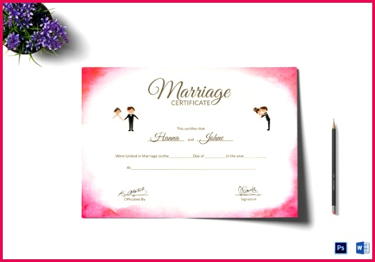 Elegant Marriage Certificate Template