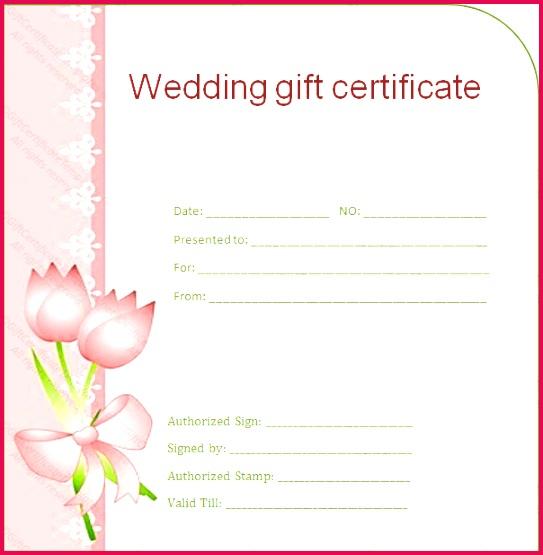 Side Border Wedding Gift Certificate Template sample doc