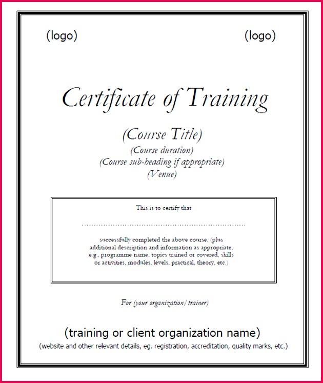 15 Training Certificate Templates Free Download DesignYep