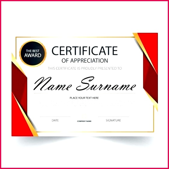 red horizontal certificate template free vector templates of appreciation ppt