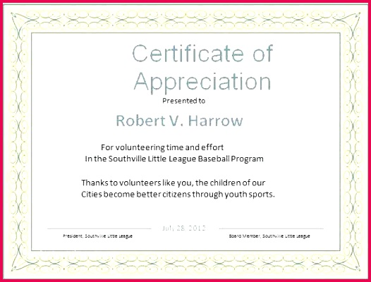 certificate appreciation sample text and word template free samples of apprecia