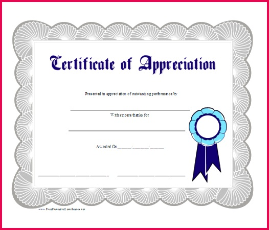 blank printable WORD Appreciation Business Gift Certificate Word Template Free Download