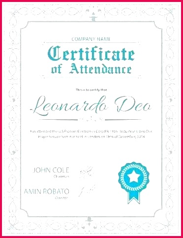 course attendance certificate template word templates of document sample and samples free downl