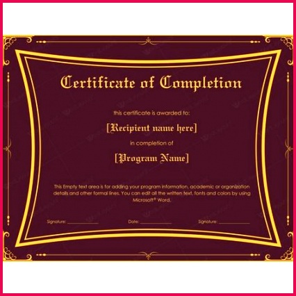 certificate of achievement word template unique template for certificate pletion luxury word certificate of certificate of achievement word template