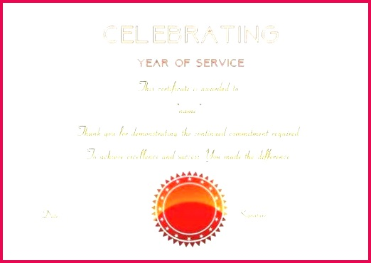 recognition certificate wording years of service template free 10 year employee anniversary professional word c