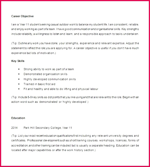 First Job Resume No Experience Examples Resume First Job Fresh Fresh Examples Resumes Ecologist Resume 0d