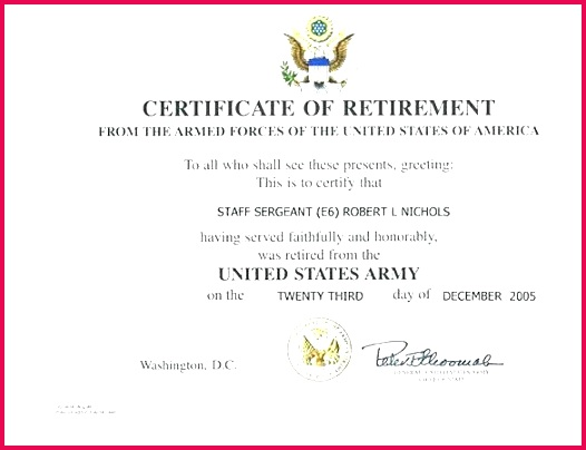sample certificate of appreciation new fresh award retirement templates free format copy army template participation certification ppt