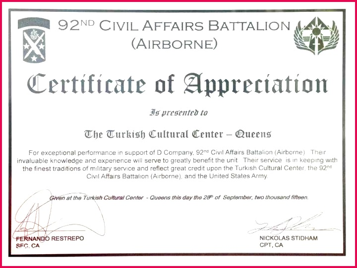 certificate of appreciation rotary and template choice image military navy federal apprecia