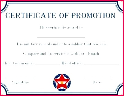 army enlisted promotion certificate template school