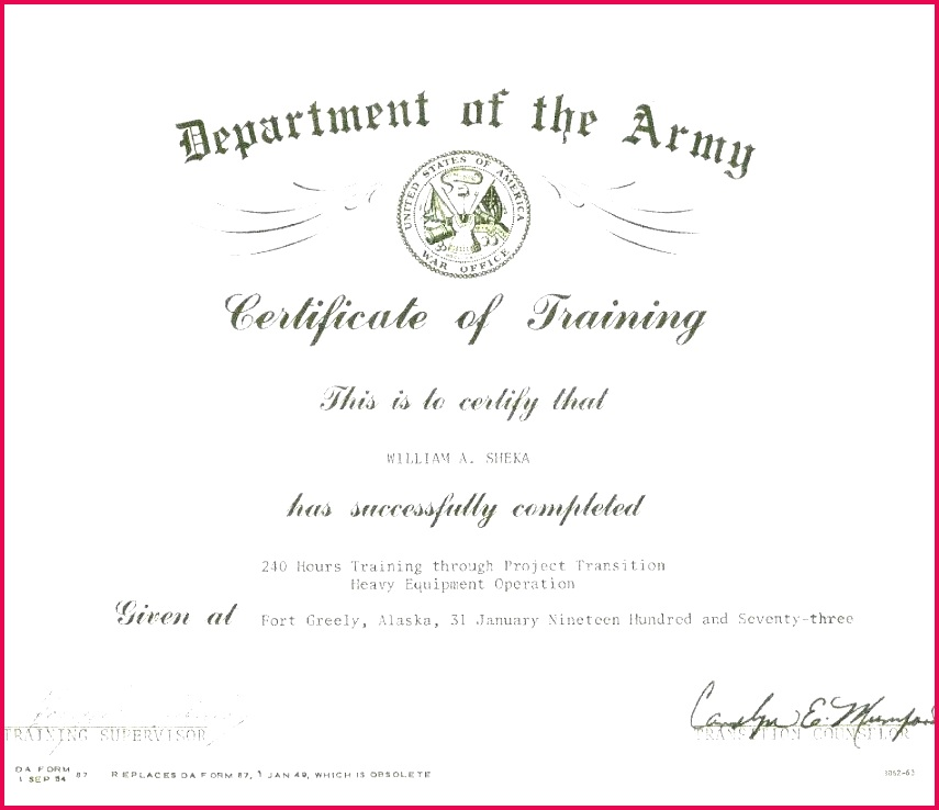 army promotion certificate template of training printable senior nco prom