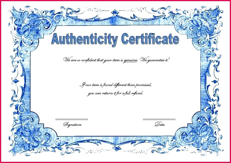 lovely certificate authenticity template free signature of new nice 8 artist t