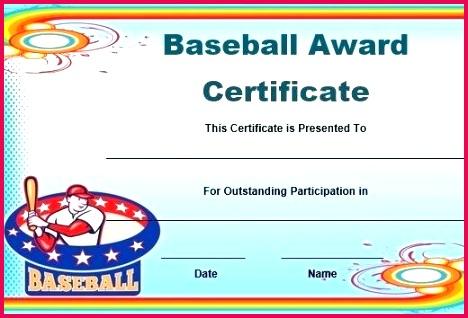 free baseball award certificate template word printable certificates