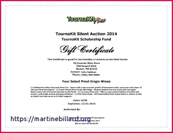 silent auction certificate template fresh destruction t best of donation templates for flyers photoshop