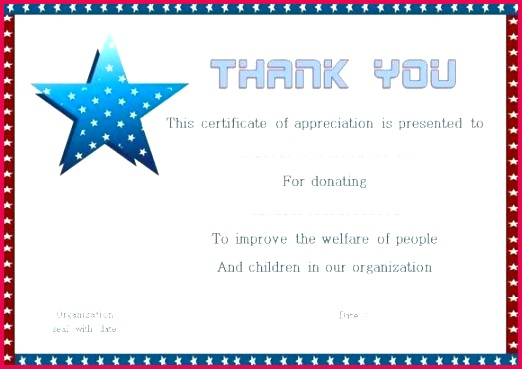 thank you for donation certificate template of thanks tax exemption