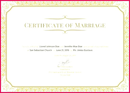 marriage certificate template word format islamic pdf wedding christian india
