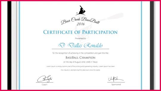 Participation certificate template1