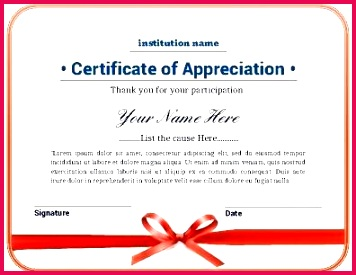 free certificate templates of appreciation psd special recognition award template