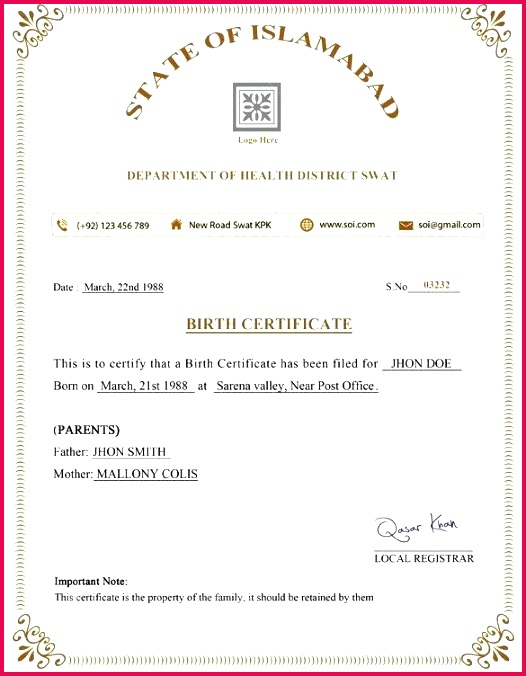 birth certificate template free word format premium templates suits psd of appreciation