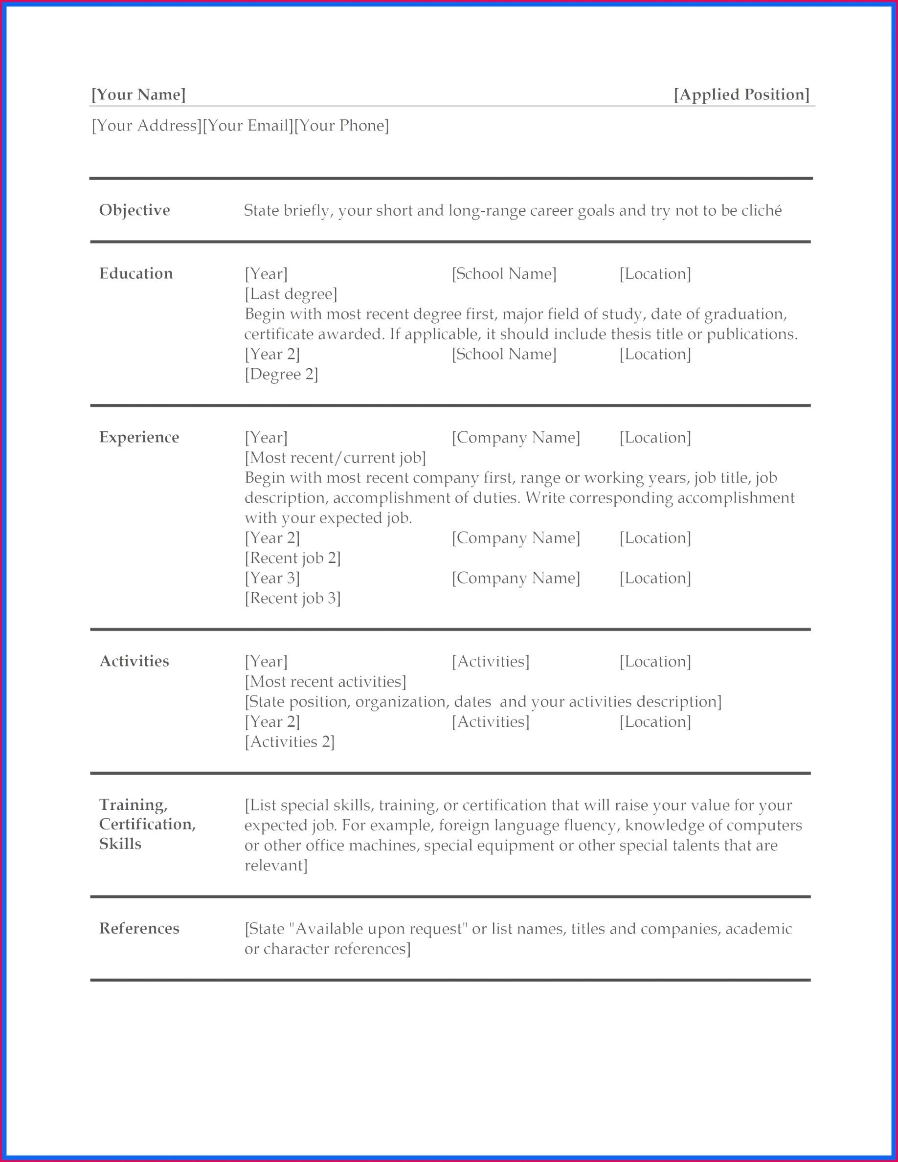 adobe resume templates free simple job resume examples best fresh resume 0d resume for idees of adobe resume templates