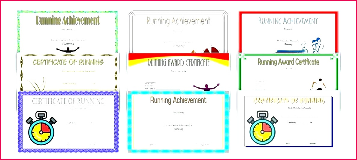 athletic certificate template sports templates running school award design theme in fun run graphic on