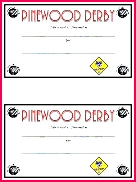 cub scout certificate templates great pinewood derby trophies and certificates sugar bee template
