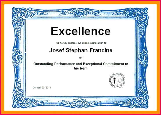 awards certificate template certificates templates word sports excellence award in of employee t