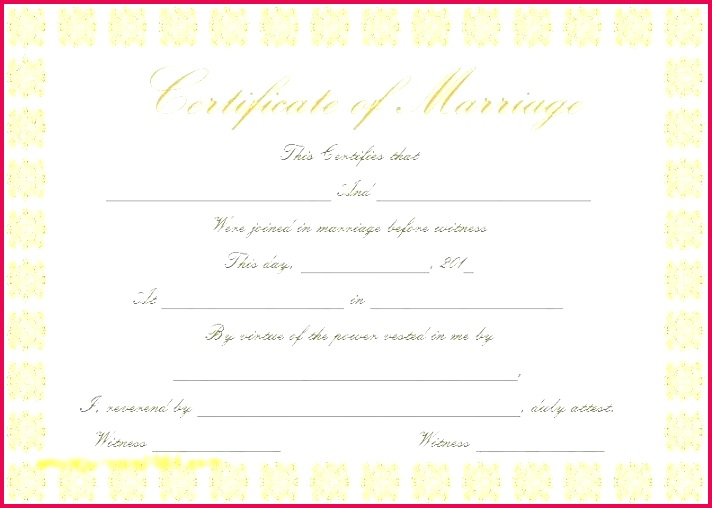 fake marriage certificate template certificates free printable license texas