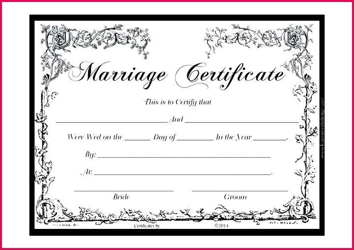 wedding certificate template marriage templates free
