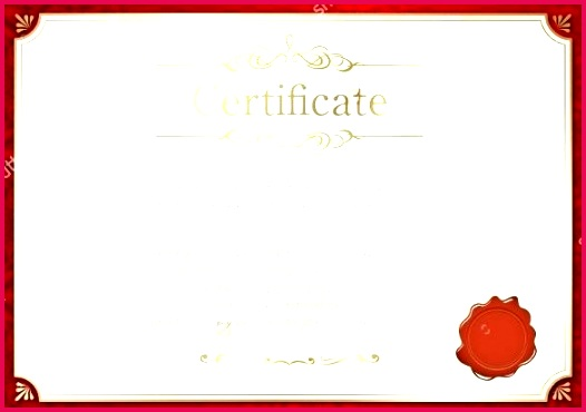 blank certificate template free vector format retro red frame
