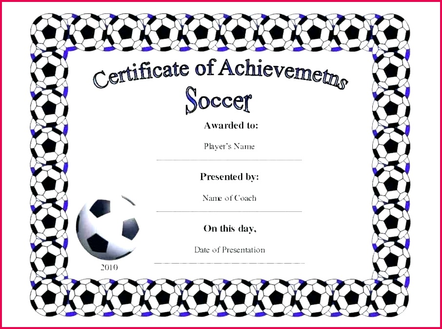 soccer award certificate templates free detail printable football certificates template