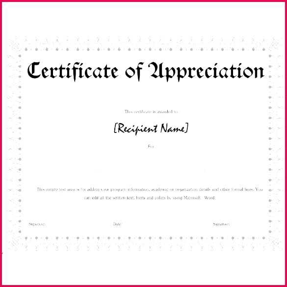 certificates certificates of appreciation templates for word free appreciation free blank music certificate templates