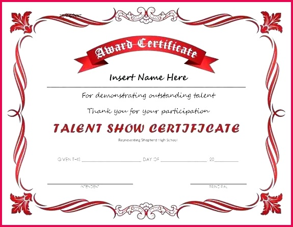 music certificate template templates art and award certificates inspirational talent show at certific