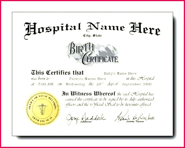 free birth certificate template fresh pet designs and printable templates