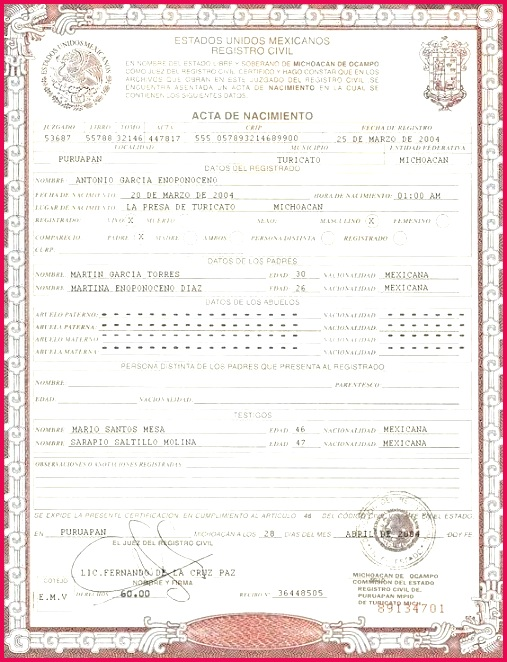 this is birth certificate template on you can put any name address dob etc and make your personalized translation for immigrat