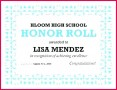 6 Honor Roll Certificate Template A and B