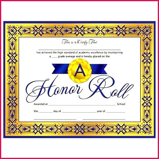 honor roll certificate template images design free ab meaning templates