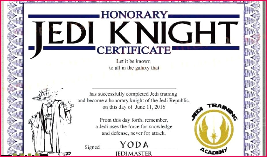 surprising jedi knight certificate template which you need to make free certificate templates