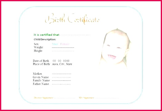 cute baby birth certificate template editable reborn doll free templates