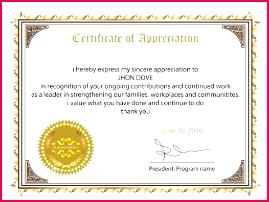 sample of appreciation certificate to employee as free template best edi