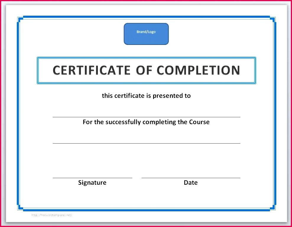 014 certificate of achievement template word pletion