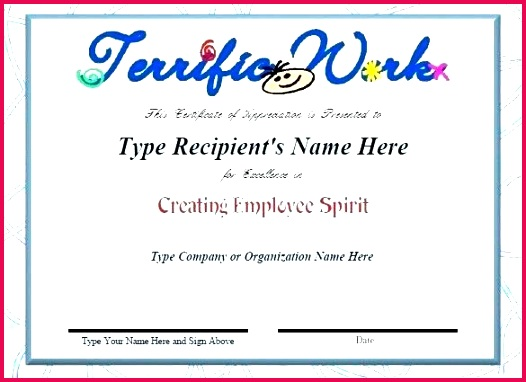 employee recognition certificate template unique blank award example special nition luxury new full size of resume volunteer appreciation em