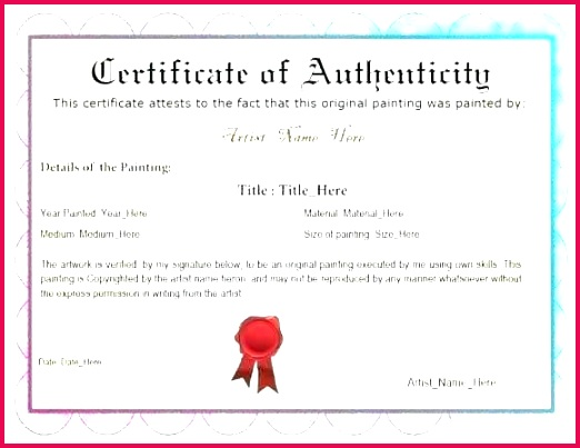 sample certificate authenticity image collections of photography template photo blank artwork art