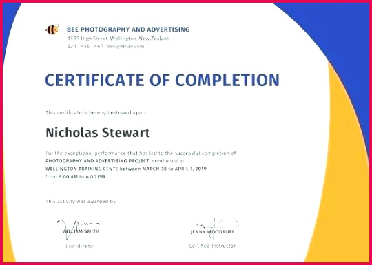 certificate of pletion template certificate of pletion template free word certificate of pletion template