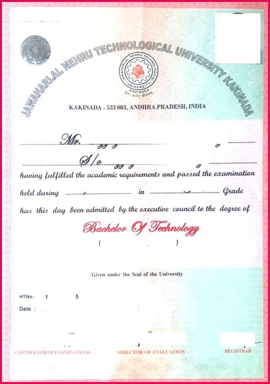 sample certificate of pletion jntuk original degree application form 2019 jntuk od apply online of sample certificate of pletion