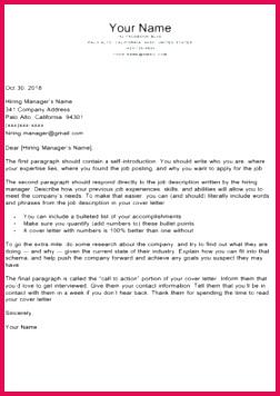 Parent Park Cover Letter Template Black White 280x396
